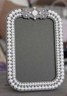 Pearl Photo Frames Table Numbers Vintage Wedding Pearls Glam