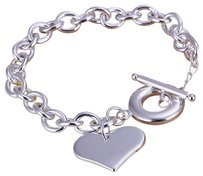 PENNY'S JEWELERY NEW Heart Toggle Bracelet, Easy On, Easy Off! 7.5 inches, 7.8 gms, HAS A 1.5 INCH EXTENDER.(3 Available)