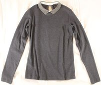 Peserico Tricot 40 Gray Instant Knit Lg Top