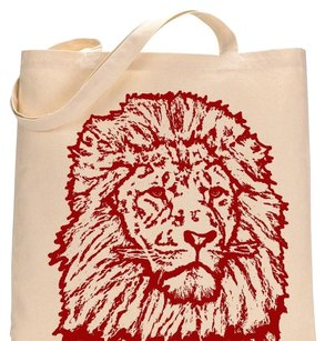 Pet studio art Tote in Red