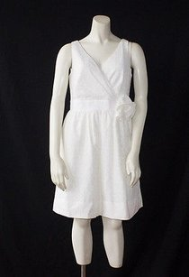 Phoebe Couture short dress Ivory Eyelet on Tradesy