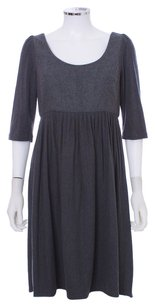 Phoebe Couture short dress Charcoal Wool 3/4 Sleeves on Tradesy