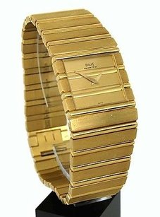 Piaget Piaget Polo Solid 18k Yellow Gold Quartz Mens Wrist Watch With Box -144 Gr