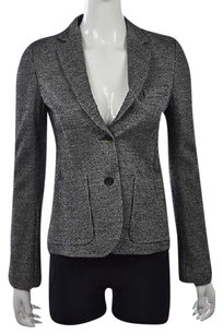 Piazza Sempione Piazza Sempione Womens Black Blazer Plaid Houndstooth Wool Wtw Jacket