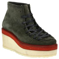 Pierre Hardy Green Army Green Suede Wedges