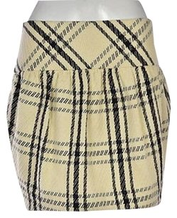 Pink Tartan Womens Ivory Plaid Pencil Above Knee Casual Skirt Multi-Color