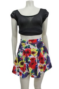 Pins and Needles Urban Outfitters Colorful Floral Mini Skirt Multi-Color