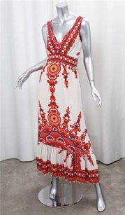 Plenty by Tracy Reese short dress Multi-Color Womens Redwhite Silk on Tradesy