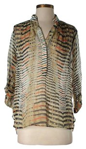 Plenty by Tracy Reese Silk Print Button Down Shirt