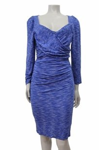 Plenty by Tracy Reese Blue Ruched Space Dyed Criss Cross Dress