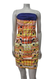 Plenty by Tracy Reese Anthropologie Button Strapless Colorful Dress