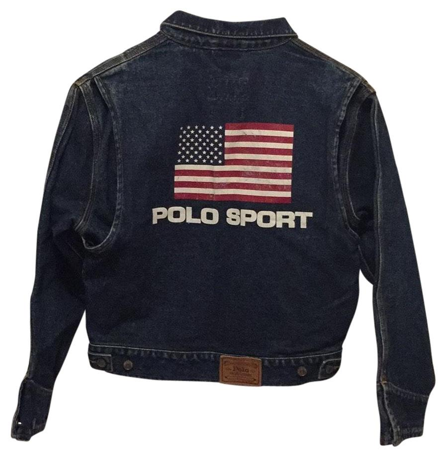 Polo Ralph Lauren Dark Denim Wash Womens Jean Jacket ...