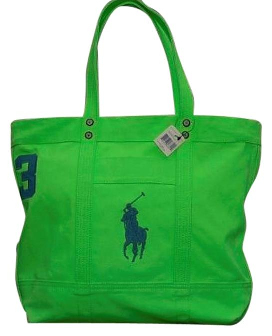 Polo Ralph Lauren Pony Tote in Green ...
