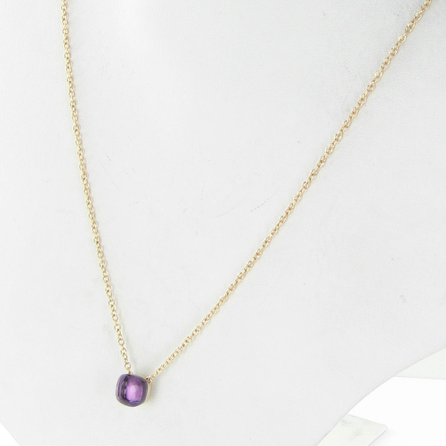 POMELLATO Nudo 18k Rose Gold Amethyst Pendant Necklace