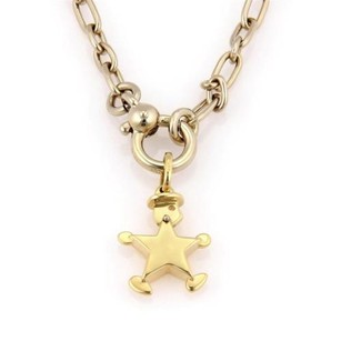 Pomellato Pomellato 18k Two Tone Chain Link Necklace With Star Shaped Figure Pendant