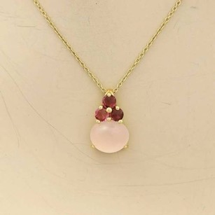 Pomellato Pomellato Luna 18k Rose Gold Rose Quartz Pink Tourmaline Necklace