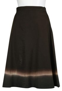 Prada Womens Brown Tan Skirt Brown, Tan, Beige