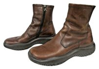 Prada Leather Ankle Brown Boots