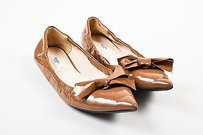 Prada Patent Leather Brown Flats