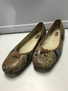 Prada Brown Blue Snakeskin Multi-Color Flats