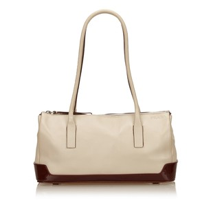 Prada Beige Bordeau Brown 6lprsh009 Shoulder Bag
