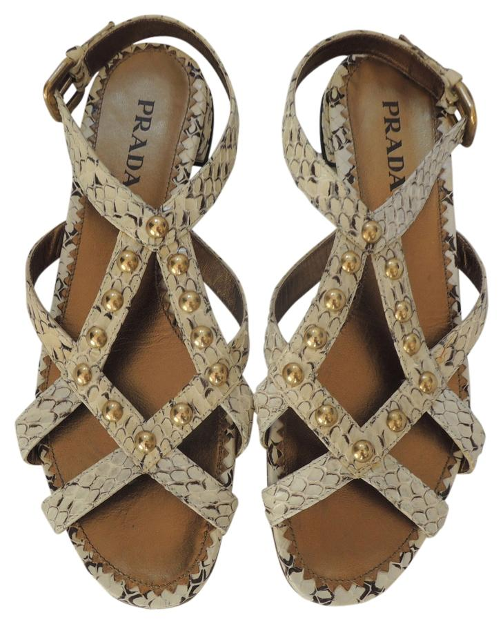 cheap sale countdown package Prada Python Studded Sandals lowest price for sale hot sale for sale outlet newest cheap sale original KyZj7