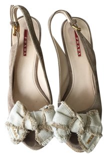 Prada Beige Wedges