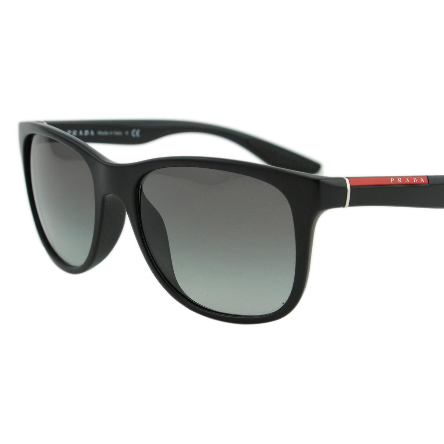 32d7f17332 ... sale prada new sport ps03o 1bo3m1 linea rossa men square 55mm sunglasses  e4fc4 39155