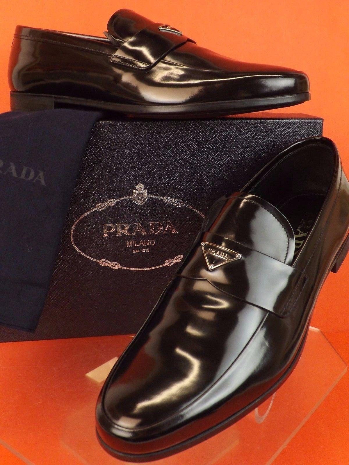 silver plate loafers Prada n9ZDeB