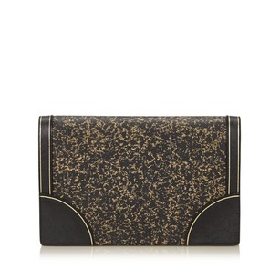 Prada Black Gold Clutch