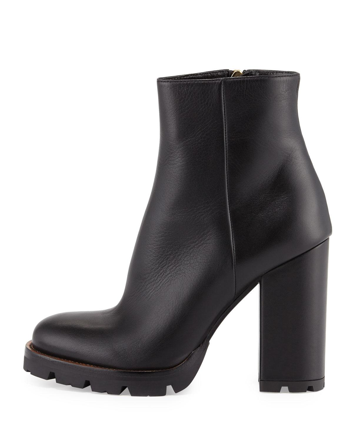 Boots for Women, Booties On Sale, Black, Leather, 2017, 4.5 5.5 6.5 7.5 8.5 9.5 Prada