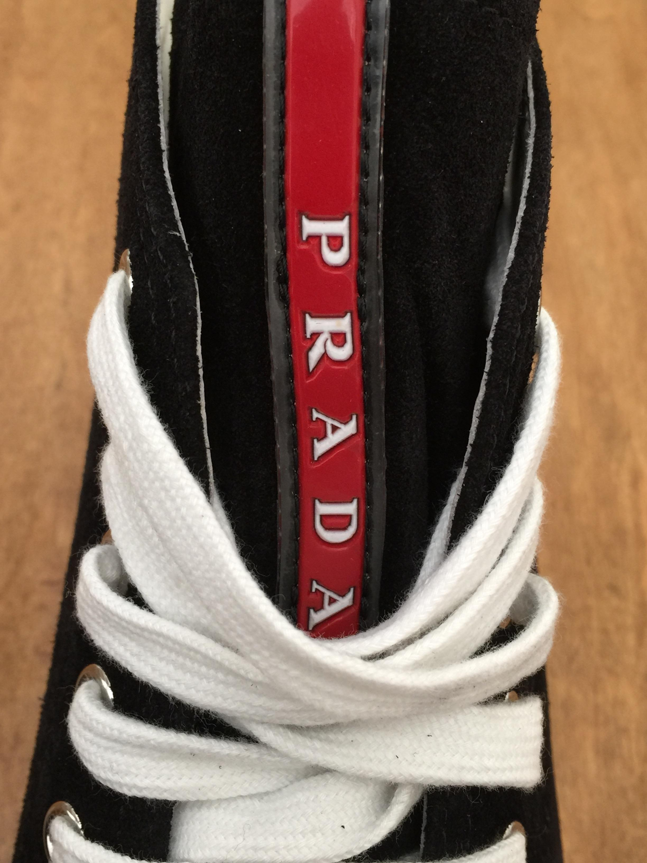 542ae244a03ee5 ... cheap prada black new womens high top sneakers 39 sneakers size us 9  tradesy 232ae 0b421