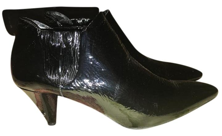 Prada Pleated Patent Leather Ankle Boots TkXkHKw