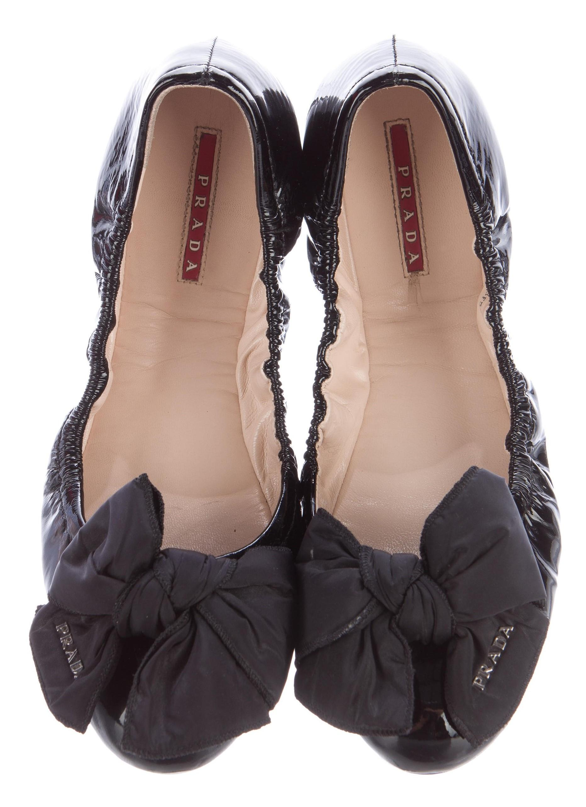 Prada Sport Patent Leather Round-Toe Mules free shipping collections free shipping limited edition cheap price top quality top quality for sale comfortable MyuKm