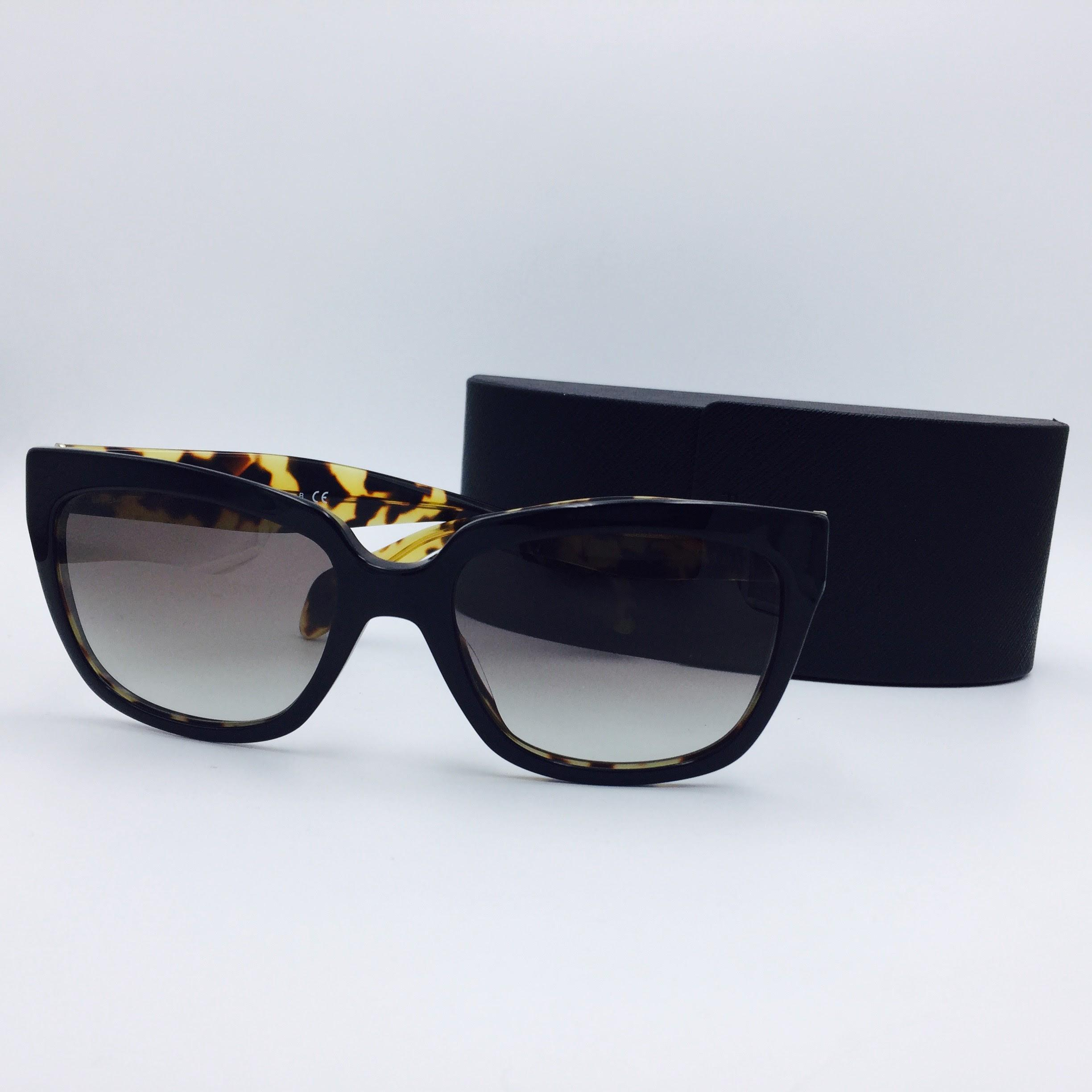 c57b3f38cbec ... new zealand prada black tortoise square and spr 07p a 56 sunglasses  tradesy f2dfe 45e34