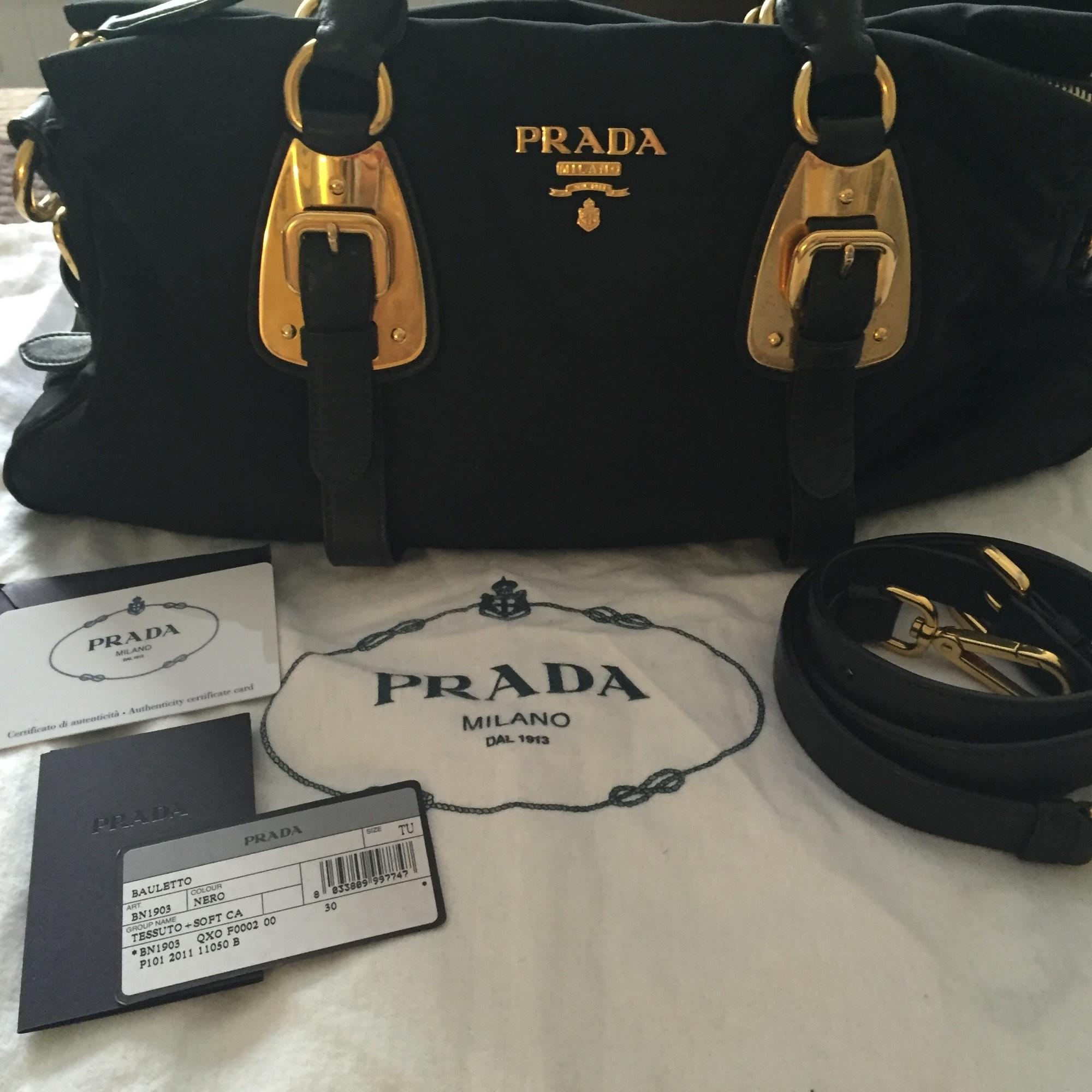 20bf552a98d7 ... cheapest prada bn1903 tessuto top handle convertible bag black nylon  satchel 0b308 f237c