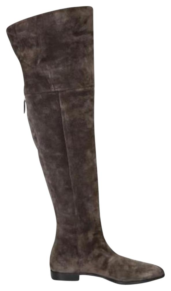 89afb4a71304 Prada Brown Over The Knee Boots Booties Size EU 36.5 (Approx. (Approx