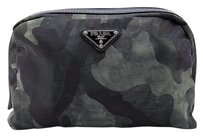 Prada Cosmetic Nylon Pouch Clutch