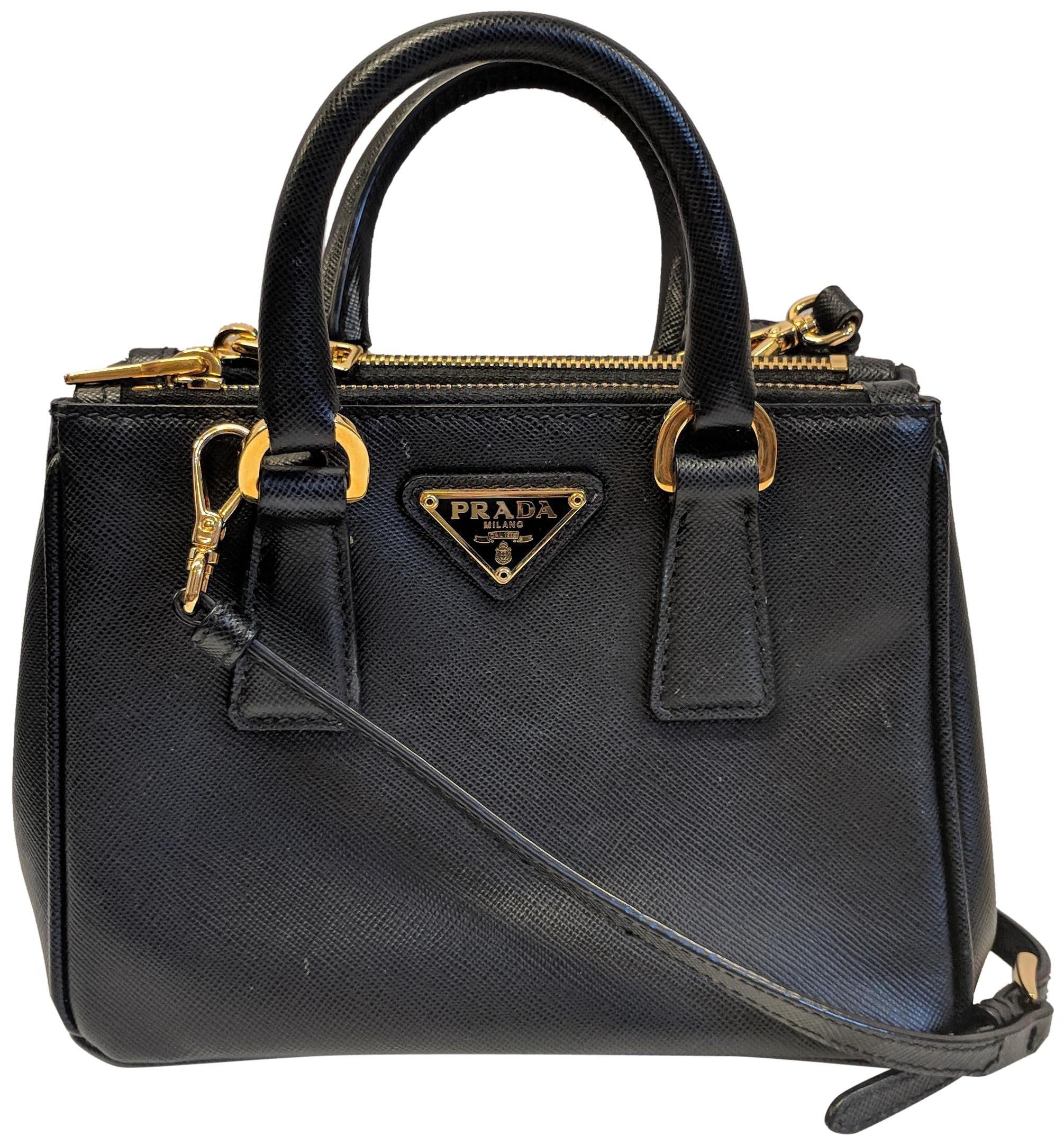 e08096e6f281 ... coupon code for prada saffiano double zip nano mini cross body bag  8c0e8 334ee