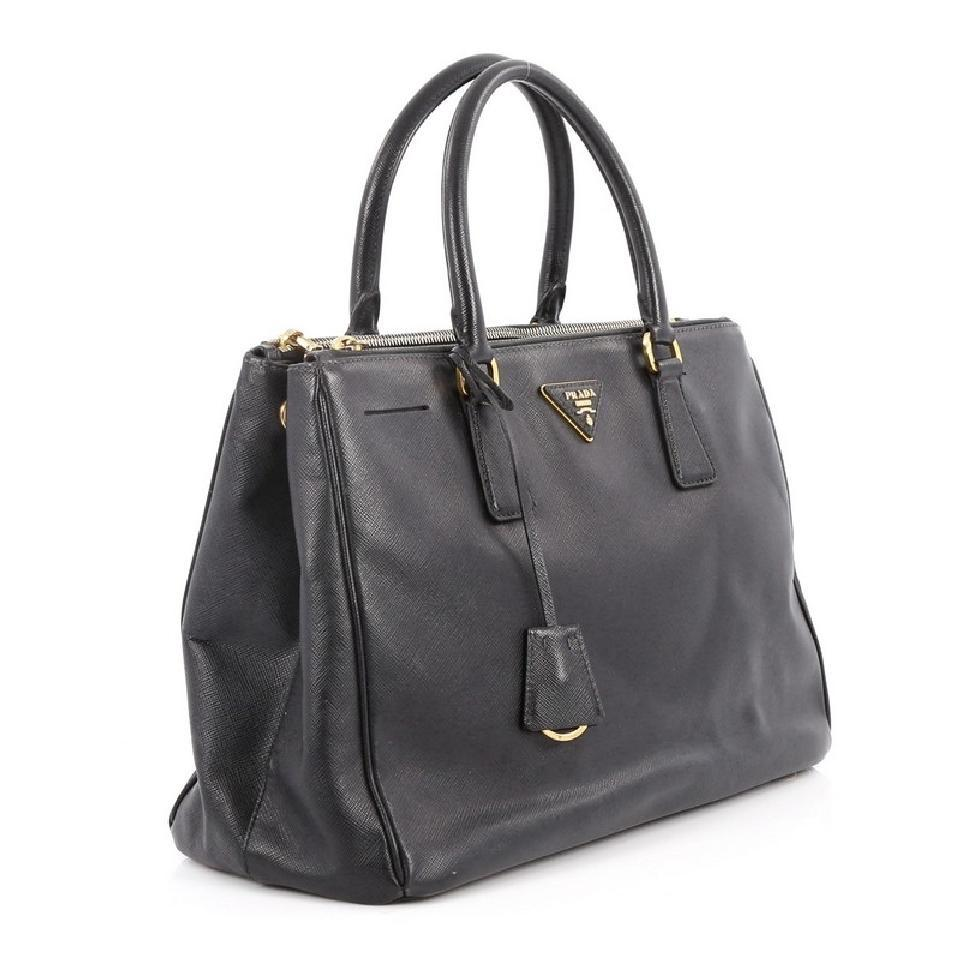 4c223ebd776f9f ... 50% off prada leather saffiano double zip tote in black df1a5 f52c9