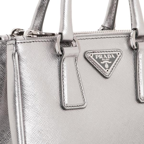 0e0f76d808e2 ... promo code for prada double saffiano zip mini tote silver cross body  bag tradesy d99d4 52932 ...