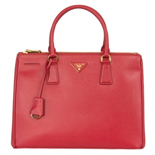 Prada Galleria Saffiano 1ba274 Tote in Red