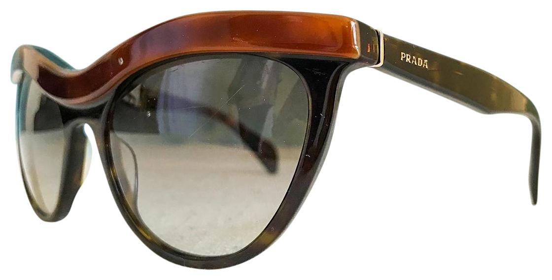 b0a637ecd2ce5 clearance prada prada spr06p ma4 0a7 havana black brown cat eye sunglasses  21be0 d0a8a
