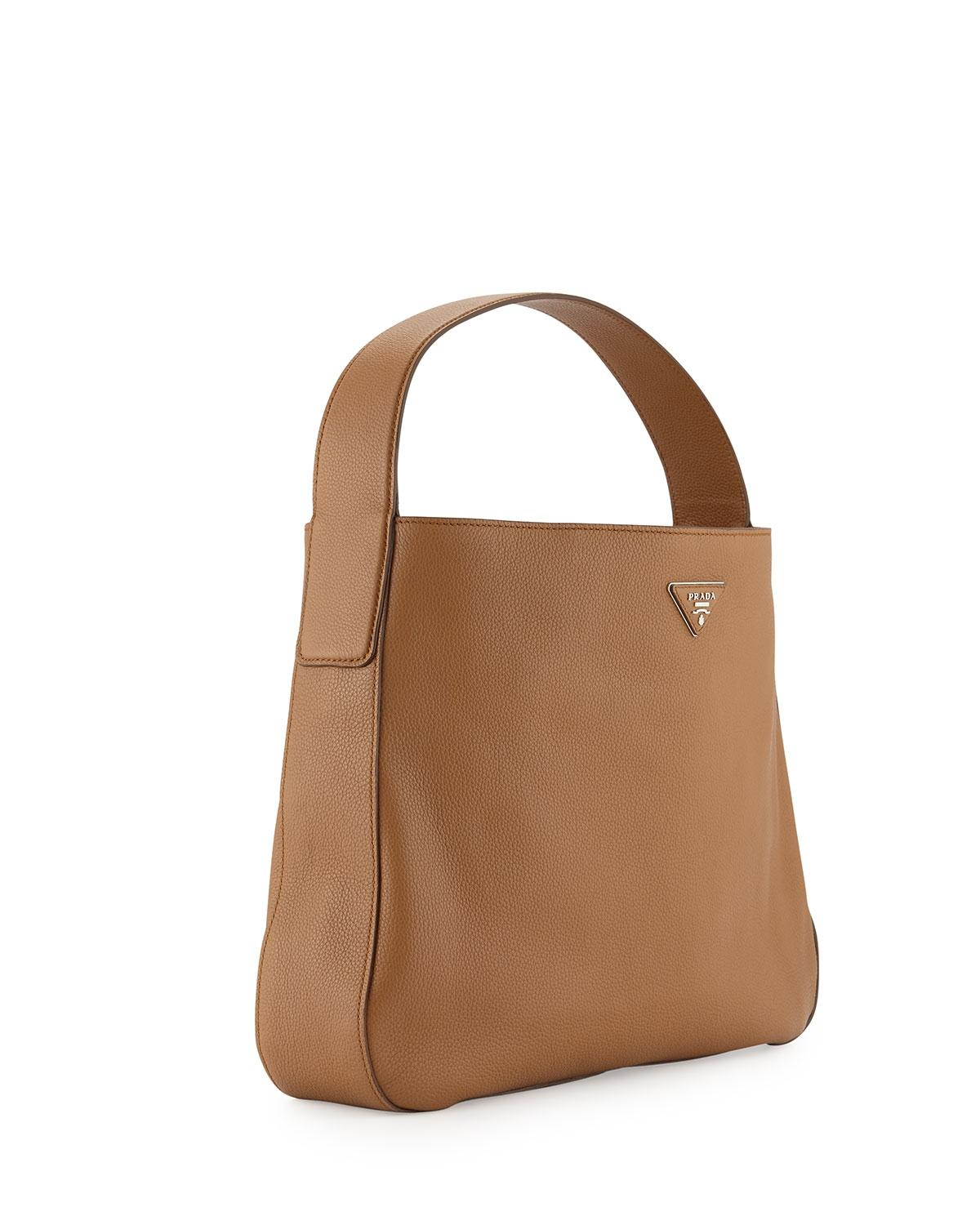 Prada Vitello Daino Sacca Leather 1bc028 Hobo Bag on Sale, 51% Off ...