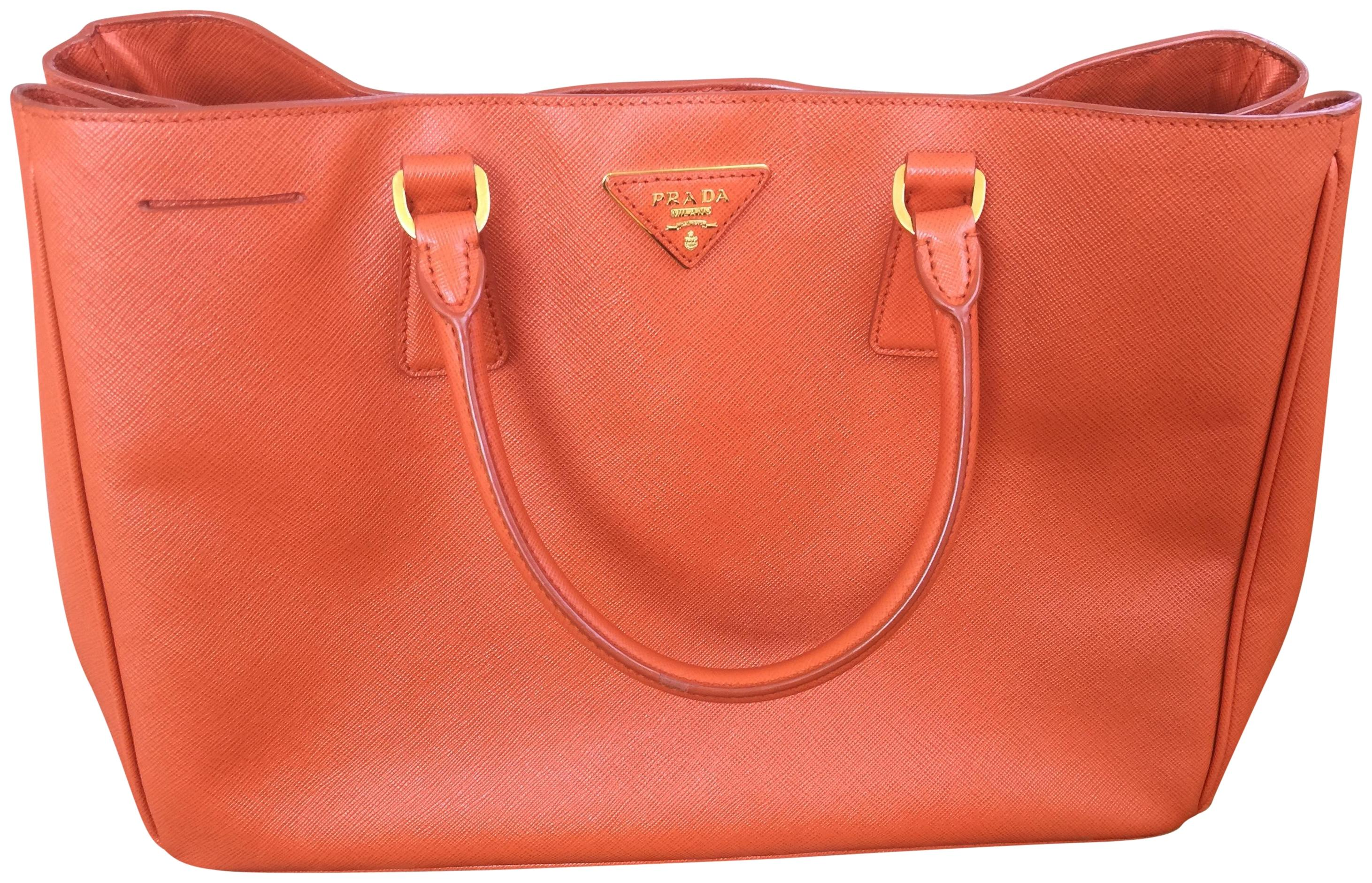 8314b1da330a ... coupon code for prada saffiano work tote in orange papaya d8326 a42bb  ...