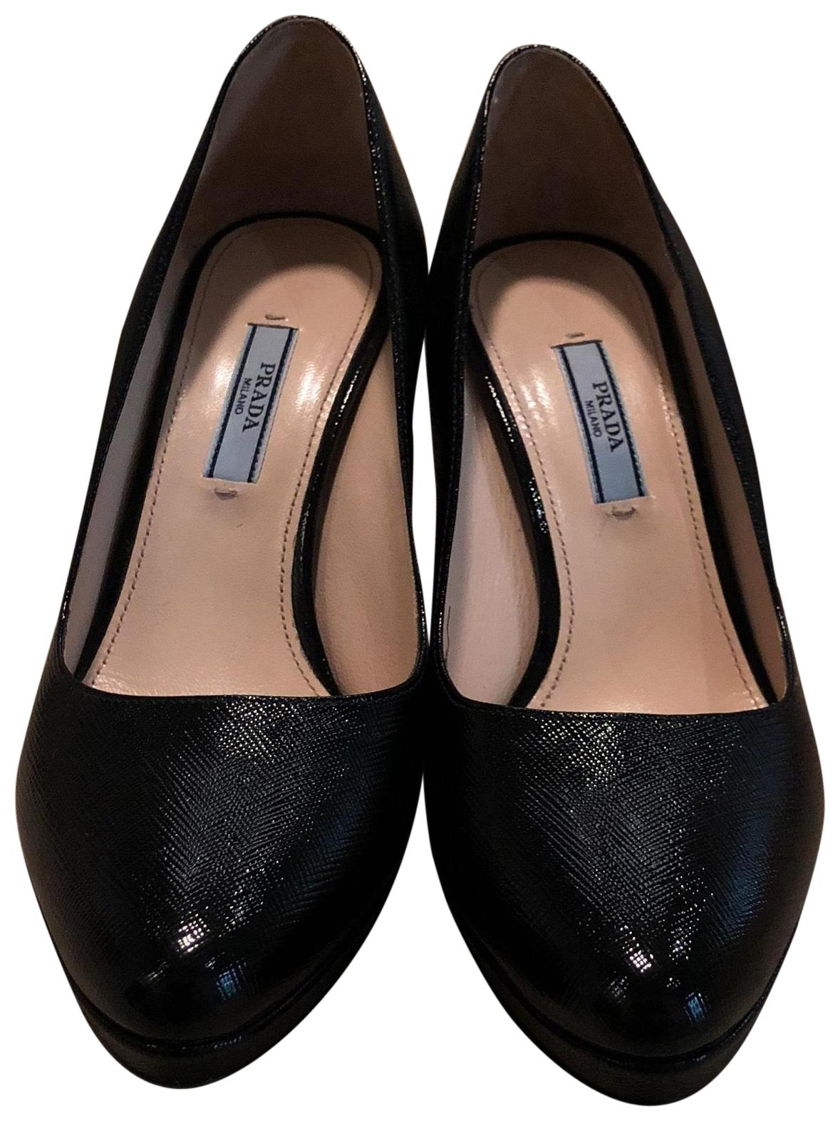 new arrival online buy cheap shop Prada Leather Semi Pointed-Toe Pumps from china cheap price with mastercard sale online PTTNX
