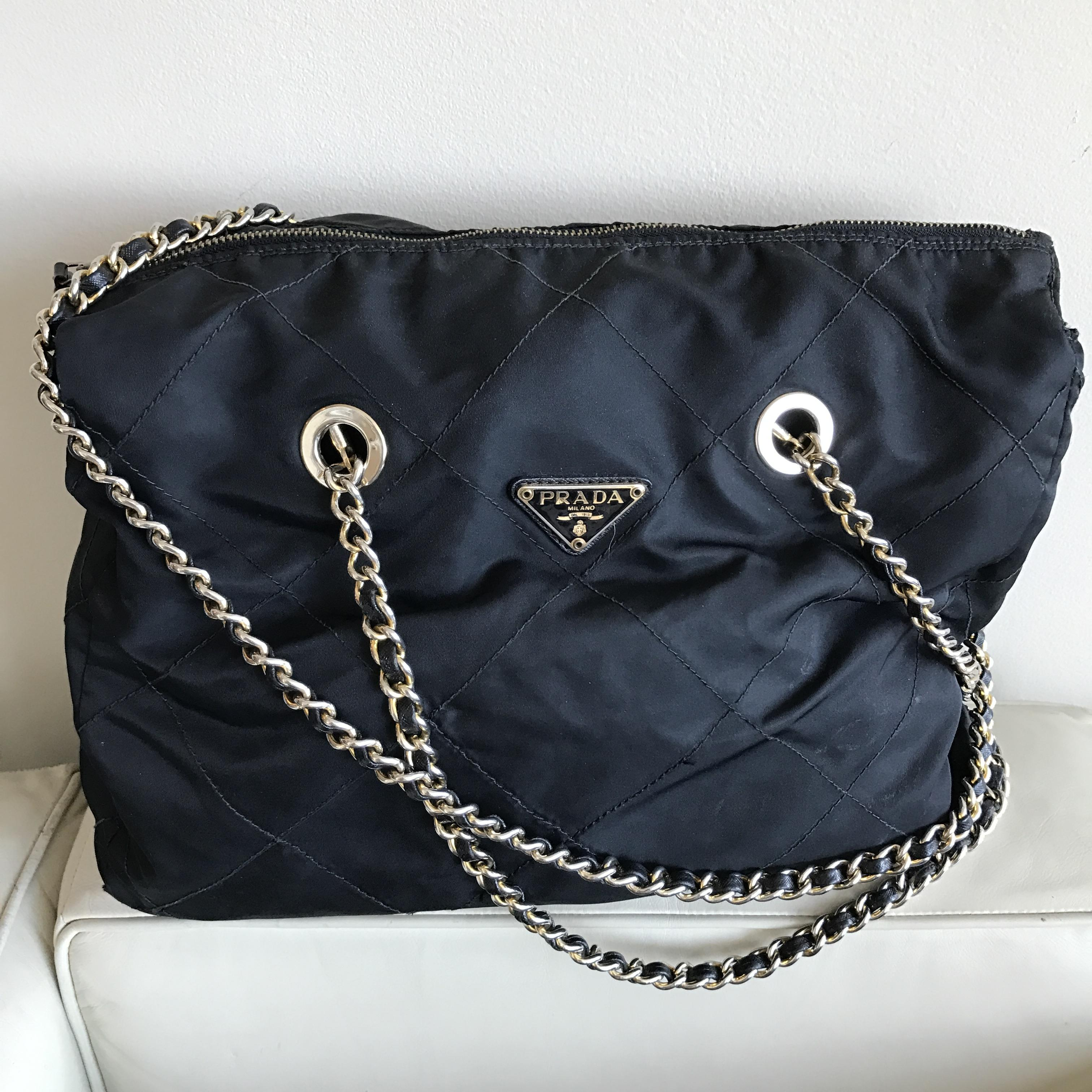 df5c1aafd9ec ... shop prada chain quilted travel tessuto neverfull shoulder bag b465a  b4071 ...