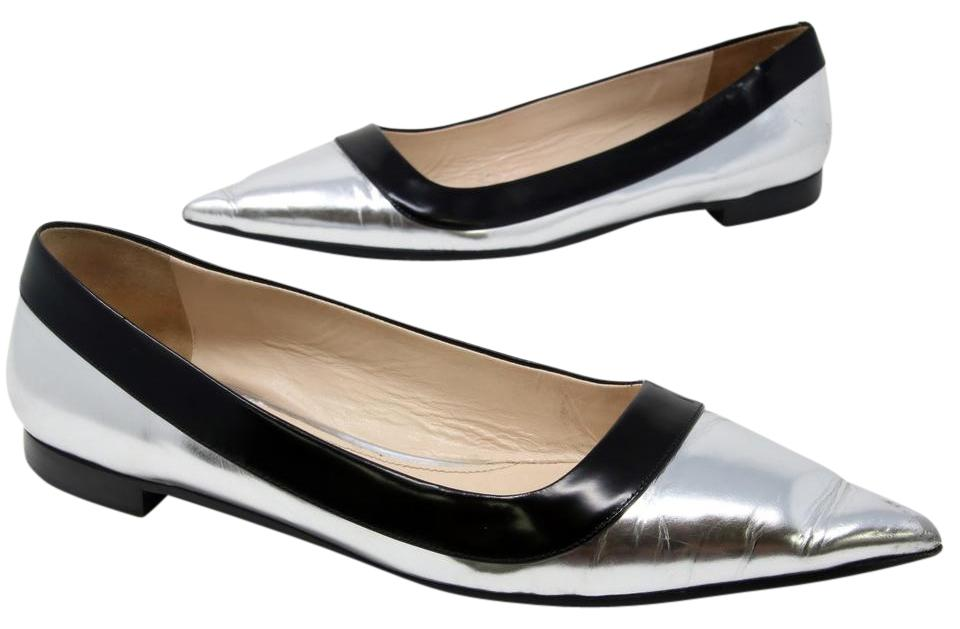finishline cheap price Prada Sport Patent Leather Pointed-Toe Flats discount cheapest price discount pay with paypal clearance 100% original EaYzqyDPGJ