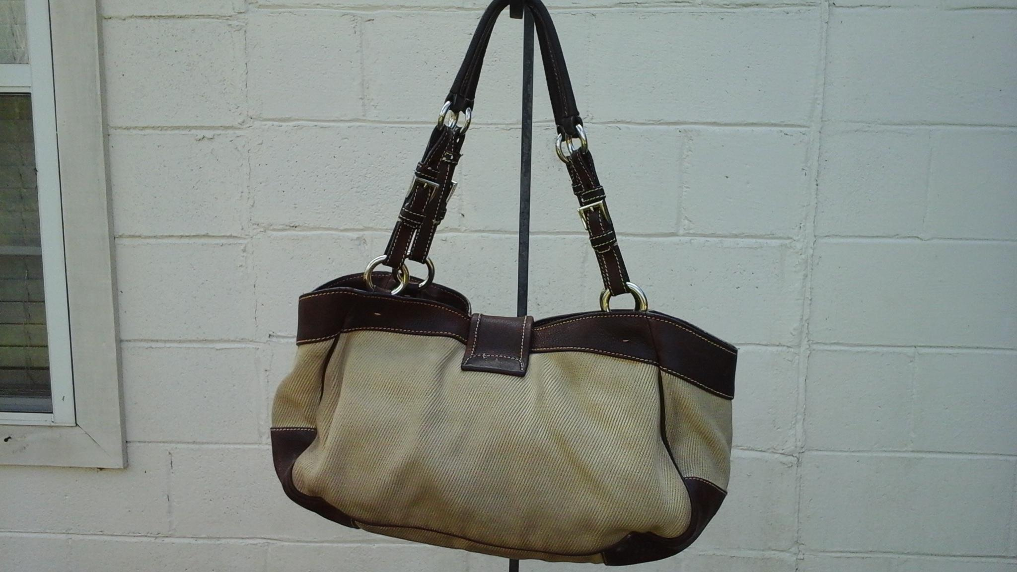 352300b6fe52 ... australia prada milano dal 1913 brown natural leather and canvas hobo  bag tradesy a9dcb a2bc9