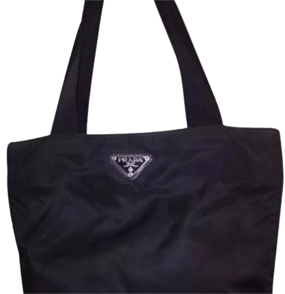 46fda8d4ddde ... inexpensive prada tote in black b7dbc 1a203